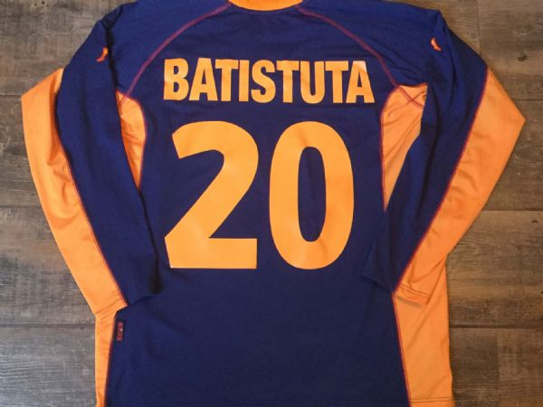 2001 2002 Roma Baristuta L/s Away Football Shirt Adults XXL